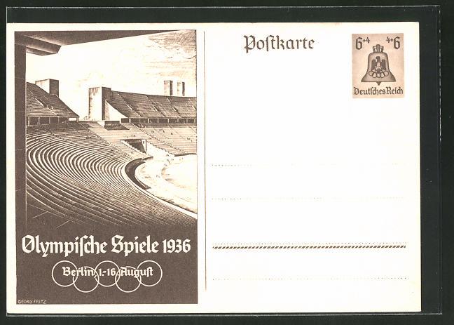 Olympische Spiele Angemessen Deutsches Reich 1936 Olympische Spiele Berlin Einschreibebrief Olympia Stadion