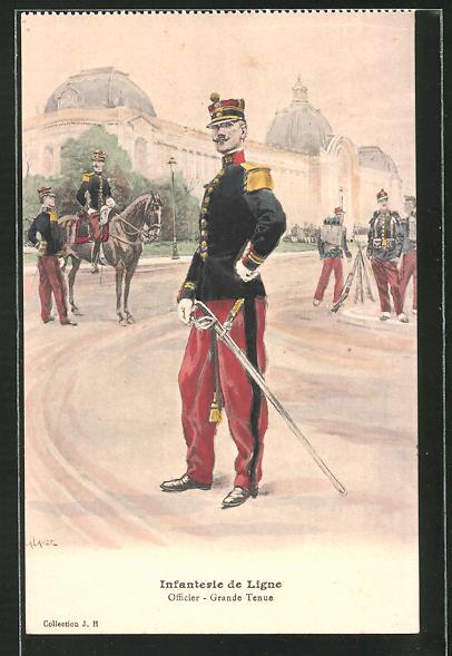 AK Infanterie de Ligne, Officier - Grande Tenue