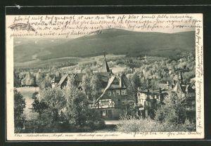 AK Ober-Schreiberhau, Teilansicht vom Bahnhof aus gesehen