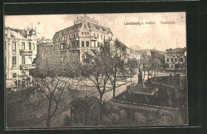 AK Landsberg / Gorzow Wlkp, Paradeplatz aus der Vogelschau