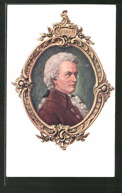 AK Seitenprofil von Mozart