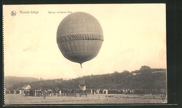 AK Armée belge, Ballon militaire libre
