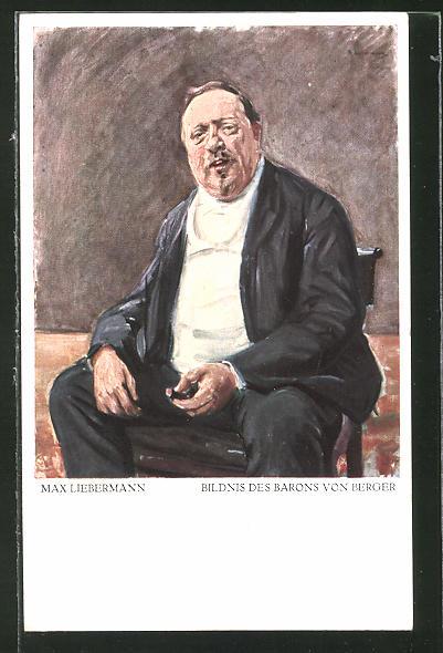 Künstler-AK Max Liebermann: Bildnis des Barons von Berger