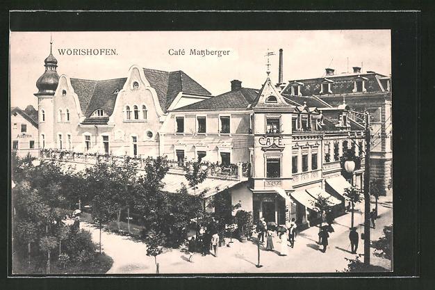 AK Wörishofen, Ansicht vom Cafe Matzberger