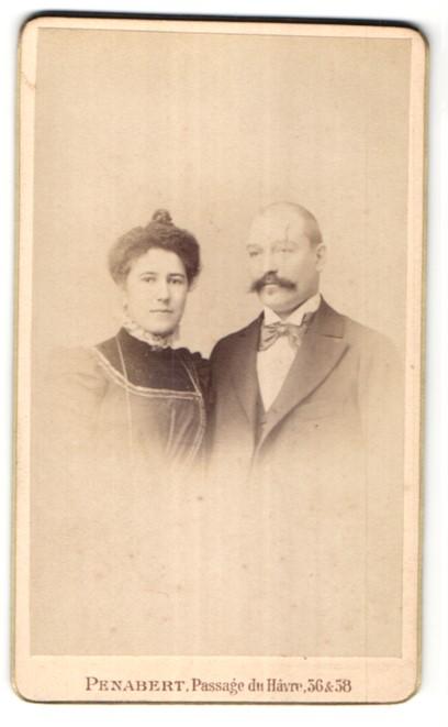 Fotografie G. Penabert, Paris, Portrait bürgerliches Paar