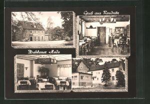 AK Reudnitz / Dahlener Heide, Gasthof Reudnitz mit Blick in die Speiseräume