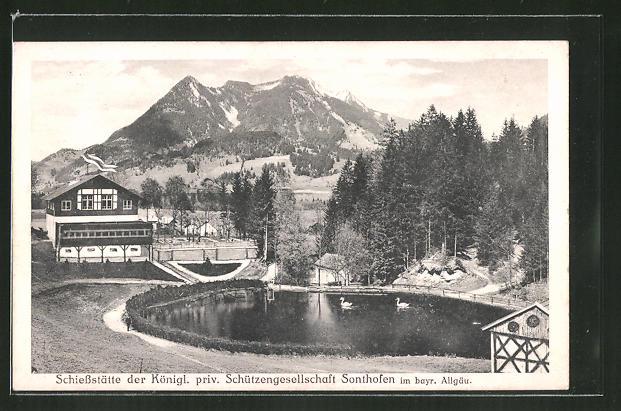 AK Sonthofen / Bayr. Allgäu, Schiessstätte der Königl. priv. Schützengesellschaft