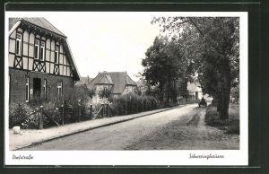 AK Schweringhausen, Blick in die Dorfstrasse