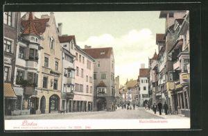 AK Lindau, Maximilianstrasse mit Geschäften