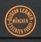 Reklamemarke München, Essenzen Fabrik Gustav Lermer