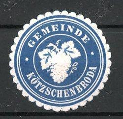 Präge-Reklamemarke Kötzschenbroda, Marke der Gemeinde