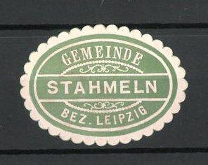 Präge-Reklamemarke Stahmeln, Marke der Gemeinde
