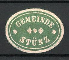 Präge-Reklamemarke Stünz, Marke der Gemeinde
