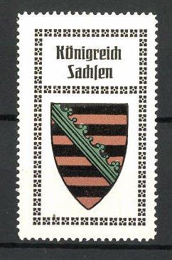 Reklamemarke Wappen vom Königreich Sachsen