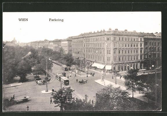 AK Wien, Strassenbahn am Parkring 0