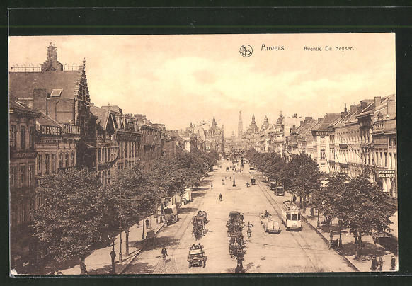 AK Anvers, Avenue De Keyser, Strassenbahn 0
