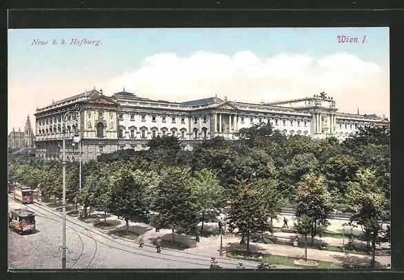 AK Wien, Strassenbahn an der neuen Hofburg 0