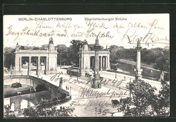 AK Berlin-Charlottenburg, Strassenbahn auf der Charlottenburger Brücke 0