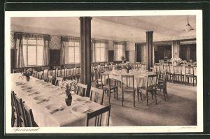 AK Schmie, Jugendhaus Schmie, Blick in den Speisesaal
