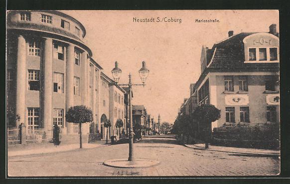 AK Neustadt, Strassenpartie in der Marienstrasse 0