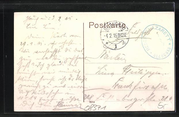 AK Glauchau, Strassenpartie am Postamt 1