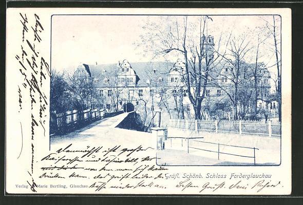 AK Glauchau, Weg zum Gräfl. Schönb. Schloss Forderglauchau 0