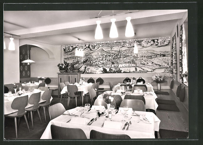 AK Coburg, Loreley Gaststätte, Inh. O. u. A. Schmidt, Innenansicht
