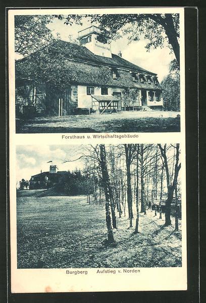 AK Frankenhardt, Forsthaus & Wirtschaftsgebäude, Burgberg 0