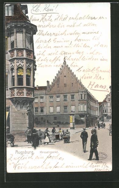 AK Augsburg, Litfasssäule am Kesselmarkt 0
