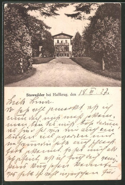 AK Scharbeutz, Weg zum Schloss Stawedder 0