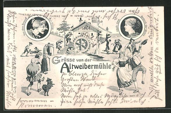 AK Altweibermühle, Vor und nach dem Besuch