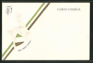 Präge-AK Corps Cimbria, Nec aspera terrent!, Studentenwappen