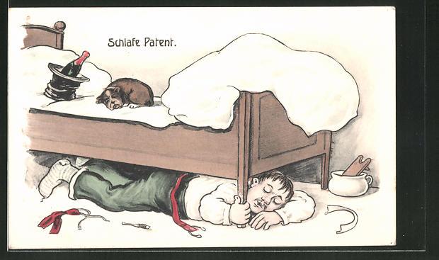 AK Schlafe Patent, Zecher unterm Bett