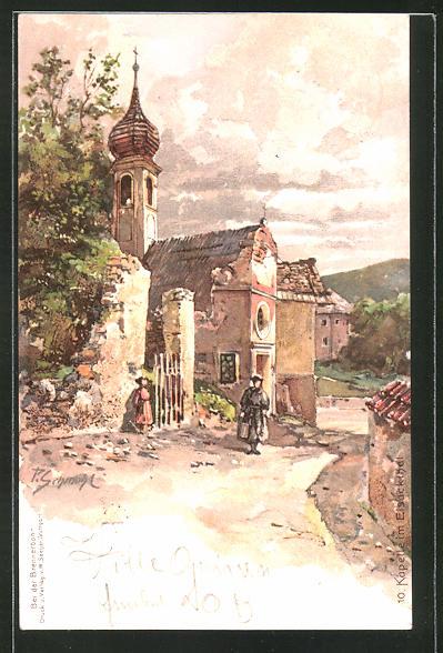 Künstler-AK P. Schmohl: Kapelle im Eisackthal