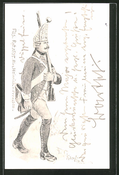 Künstler-AK Franz Skarbina: Soldat des Füs. Rgt. No. 35 Prinz Heinrich v. Preussen