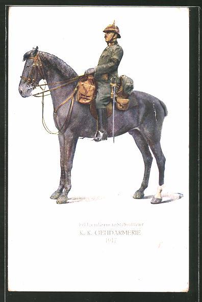 AK Feldgendarmerie-Stabsoffizier, K. K. Gendarmerie 1917