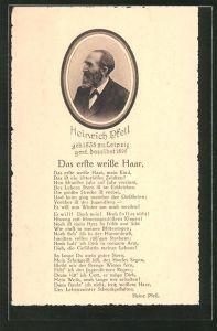 AK Komponist Heinrich Pfeil mit dem Lied
