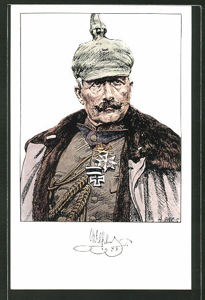 Künstler-AK Angelo Jank: Kaiser Wilhelm II. mit Pickelhaube