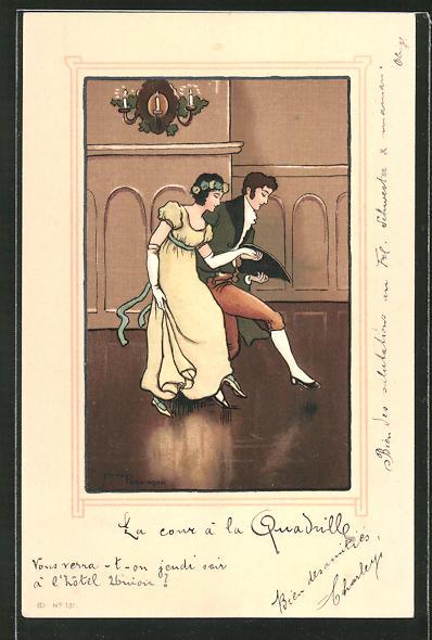Künstler-AK Ethel Parkinson: Mann und Frau beim Paartanz