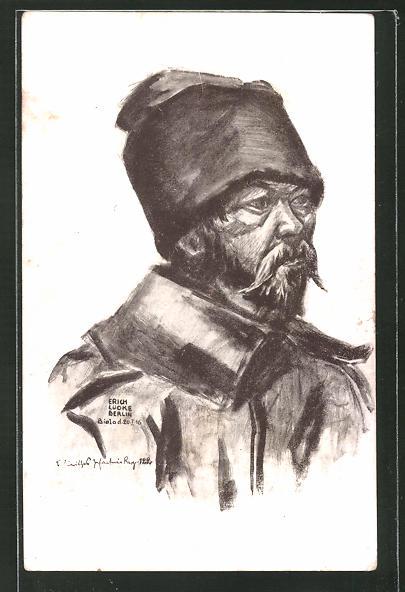AK russischer Kriegsgefangene im Portrait
