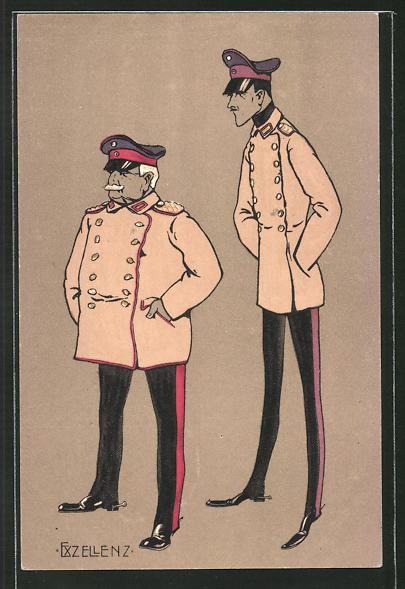 AK 2 Offiziere in Uniform mit Mütze