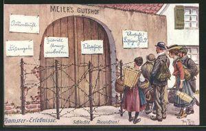 Künstler-AK Arthur Thiele: Hamster-Erlebnisse, Schlechte Aussichten