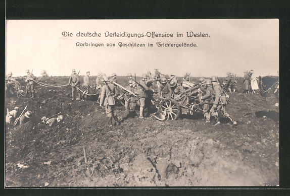 AK Deutsche Verteidigungs-Offensive im Westen, Vorbringen von Geschützen