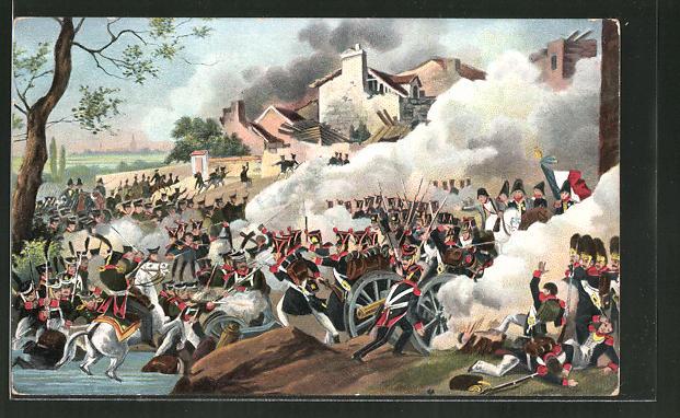 AK Napoleon in Probstheida am 18. Oktober