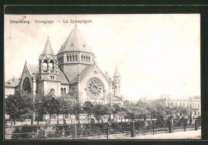AK Strassburg, Ansicht der Synagoge