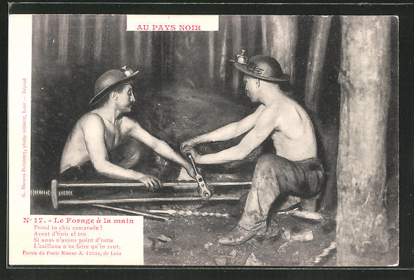 AK Au Pays Noir, Le Forage à la main, Bergbau