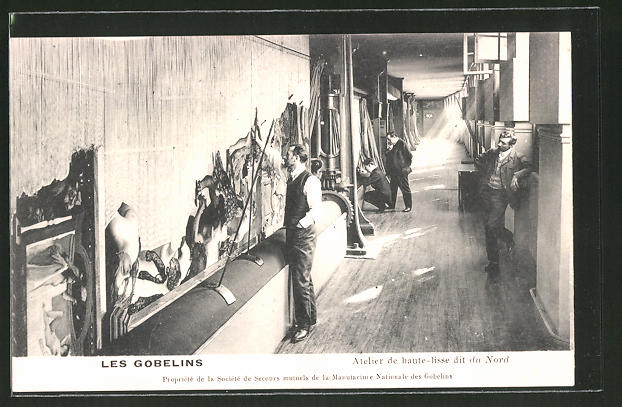 AK Les Gobelins, Atelier du haute-lisse dit du Nord, Teppichweberei