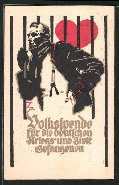 Künstler-AK Ludwig Hohlwein: Volksspende für die deutschen Zivil- und Kriegsgefangenen