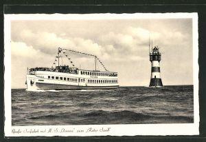 AK Passagierschiff M. S. Oceana fährt zum Leuchtturm Roter Sand