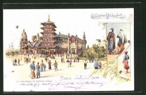 Lithographie Paris, Exposition universelle de 1900, Le Panorama du Tour du Monde
